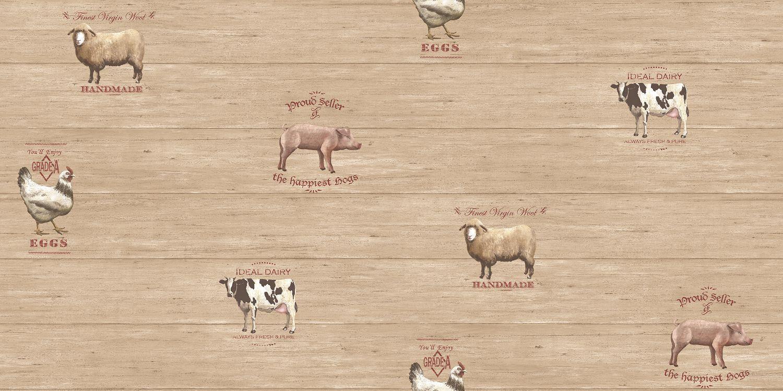 Essener Tapete Kitchen Recipes G12301 Huhn Kuh Kühe Vliestapete Vinyltapete