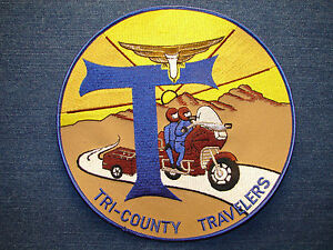 Tri County Honda >> Details About Tri County Travelers Motorcycle Large Patch Applique Goldwing Honda Sew On