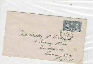 turk+calcos 1937 stamps cover  Ref 9960