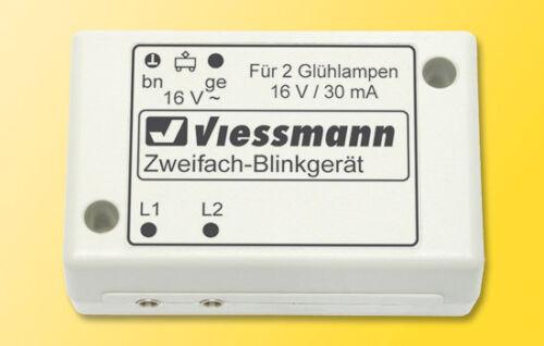 Viessmann 5038 Zweifach-Blinkgerät mit zwei gelben Glühlampen N