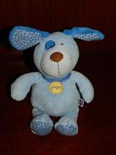 "10"" Manhattan Toy Blue POKIE DOT Puppy Dog Plush Stuffed Animal Baby Polka Dots"