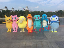 Hot 7 Kinds Pokemon Go Pikachu Fancy Party Dress Mascot Costume Christmas Adult