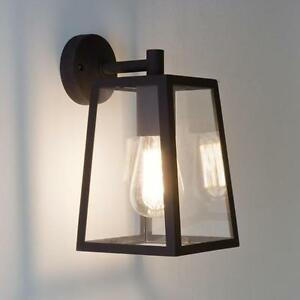 Astro-calvi-IP23-exterieur-mural-exterieur-lanterne-lampe-60W-E27-verre-noir