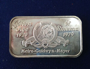 1980-Greathouse-Prod-Golden-Age-of-Cinema-Ser-12-152-TRG-25V-Silver-Bar-P1868