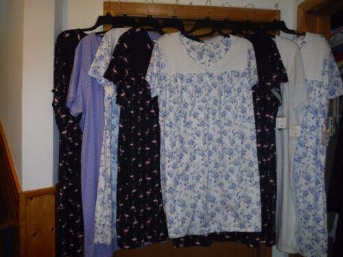 Size Plus Short Sleeve Sleepshirts Croft /& Barrow 4X,3X,2X,1X,100/% cotton Multi