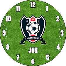 Reloj De Pared Personalizado personalizado llamado Club Fútbol Insignia del equipo Para Niños Habitación