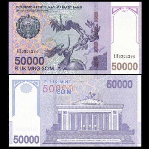 P-New NEW Uzbekistan Banknote 50000 UNC  money 50,000 sum//SO/'M 2017  Ex-USSR