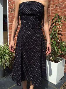 Gorgeous-miss-selfridge-50-039-s-polka-dot-rockabilly-party-dress-look-vintage-14