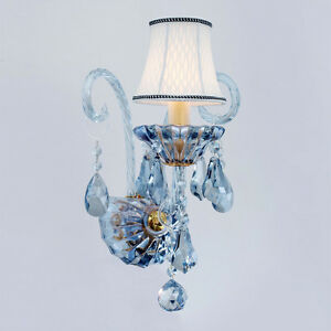 Image Is Loading European Blue Crystal Wall Sconces Staircase Corridor Wall