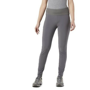 New Womens Columbia Athletic Pants Leggings Grey Stretch