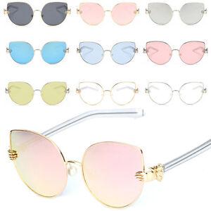 Calidad-Grande-Ojos-de-Gato-Mujer-Disenador-Gafas-Sol-Moda-70-039-s-Ovalado-Lentes