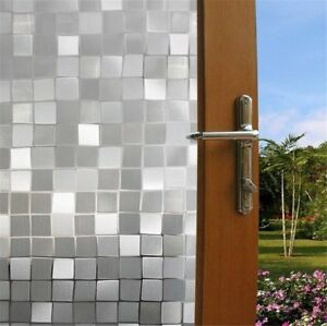 Window-Film-Frosted-3D-Glass-Decorative-Privacy-Home-Door-Bathroom-Cling-Tint