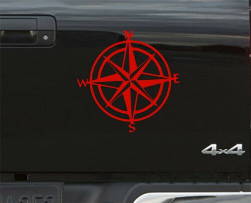 Decal Land Rover 4x4 Off Road Navigation Style x 2 RED Compass Sticker