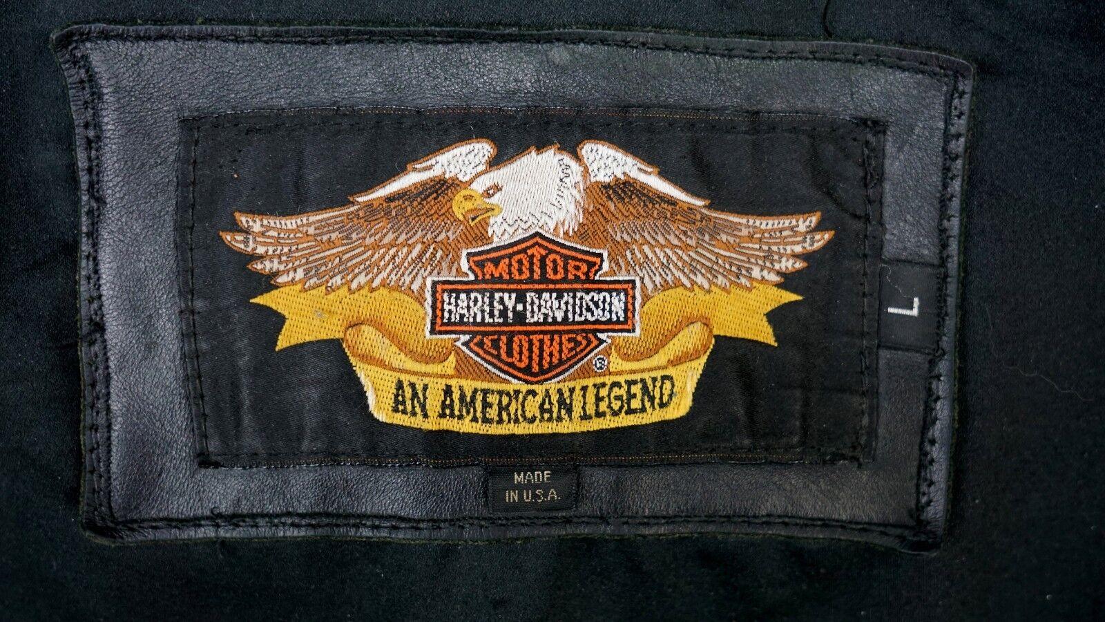 Harley Davidson Motard Moto en Veste en Moto Cuir Noir 52 L a88215
