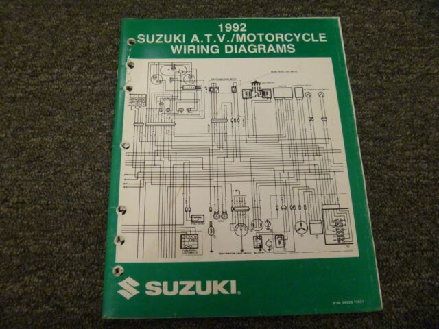 1992 Suzuki Dr350 Dr650 Gs500 Katana Electrical Wiring Diagram Manual