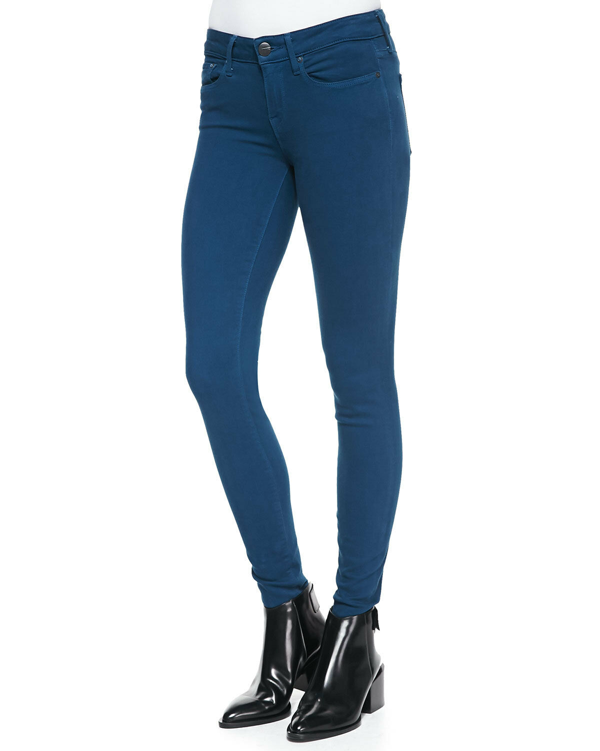 NWT VINCE 25  31L bluee Petroleum Riley Skinny Mid Rise Denim Jeans Leggings