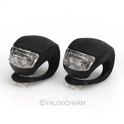 2Paire LED Lampe Silicone Lumière Eclairage Avant Arrière Pr Vélo Bicyclette VTT
