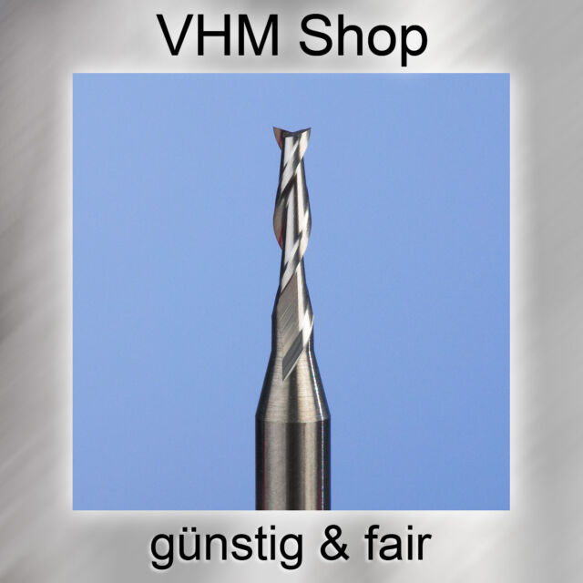 1 Stück 2 Schneiden VHM Fräser,HM Schaftfräser,Dremel, Durchmesser 1,5 mm