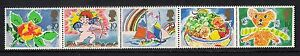GB-1989-sg1423-27-Greetings-Stamps-Set-MNH-Good-Perfs-Strip-From-Booklet-Cat-25
