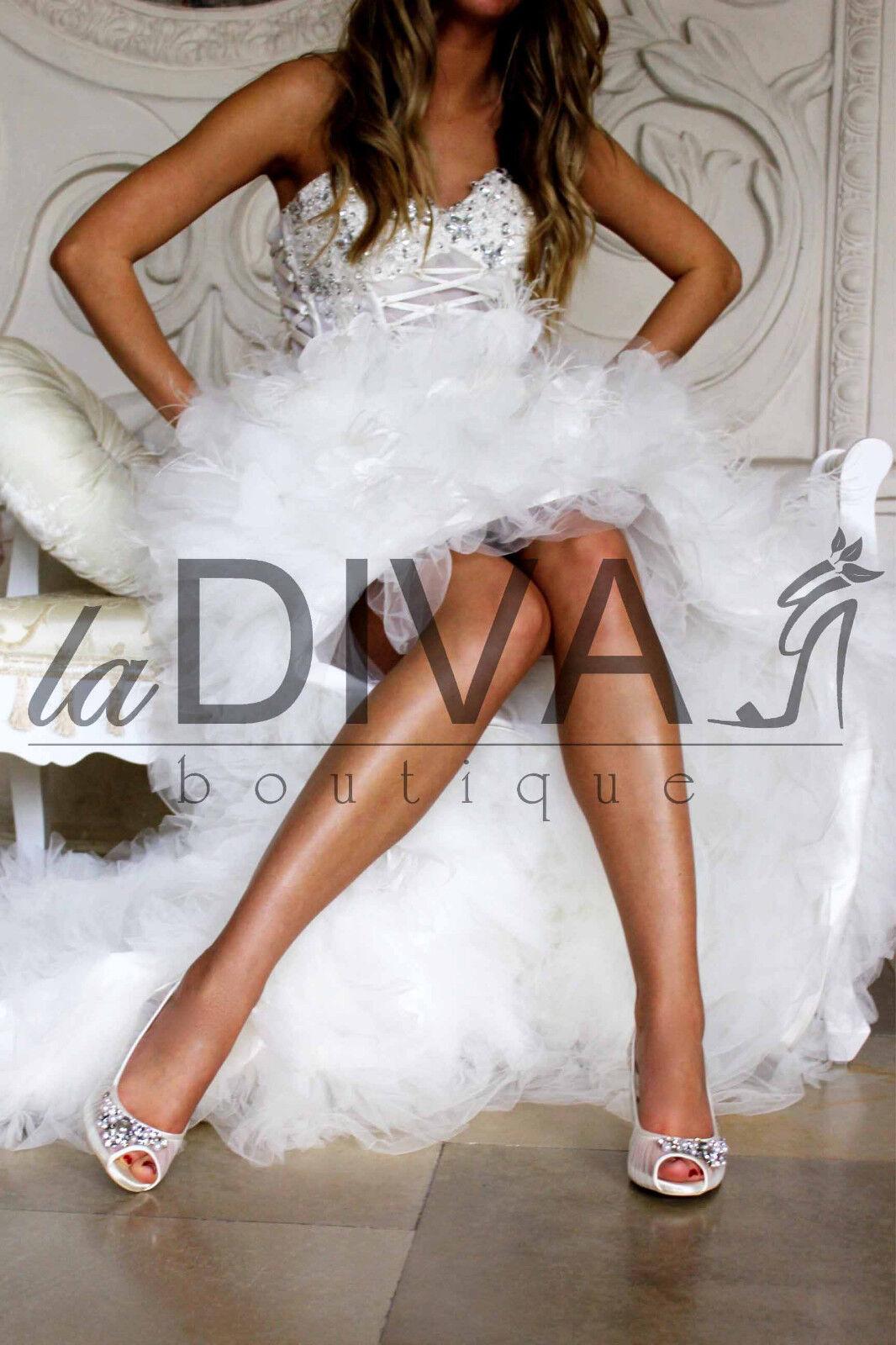 MENBUR ~ PEEP TOE PUMPS IN RETE CON PERLE & STRASS 38 Ivory Bianco Scarpe da sposa