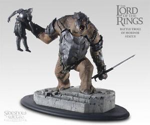 LOTR-Sideshow-Weta-BATTLE-TROLL-OF-MORDOR-statue-RARE-sauron-gandalf