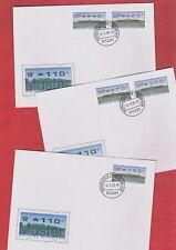 ERSTTAG Bund-ATM-Mustersatz Fehlverwendung 5/25/75/105/155 DBP-Logo Nr.2.2.1 FDC