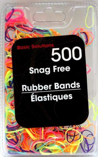 New ~ 500 Poly Snag Free Braiding Elastics Small Rubber Hair Bands ~ You Choose