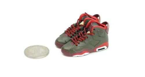 1//6 Scale Hot Sneakers Sports Shoes Trainers Air AJ6 Black Red