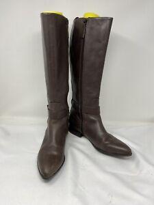 Nine West Diablo Dark Brown Leather Zip