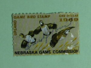 1969 Nebraska Game Bird Habitat Duck Hunting Stamp LicenseFree