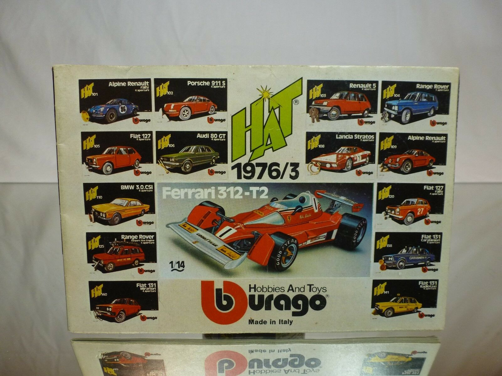 BBURAGO CATALOG FLYER - - - HAT 1976 3   - NEAR MINT CONDITION - EXTREMELY RARE 6f04e8