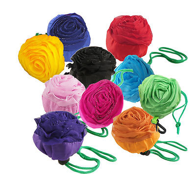 5x Lovely wiederverwendbar Eco Zusammenfaltbar Einkaufstasche mit Rosen Formen