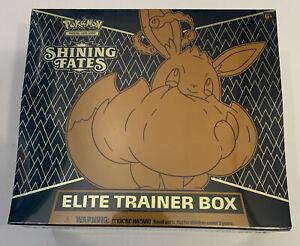 LOT OF 2 Pokémon TCG Shining Fates Elite Trainer Box Sealed *IN HAND*