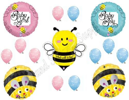 WHAT WILL IT BEE Gender Reveal BABY SHOWER Balloons Decoration Supplies Boy Girl