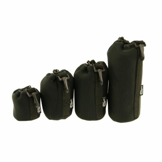 Protective Waterproof Neoprene SLR DSLR Lens Pouch Case Bag - 4 Size Pack mo9t