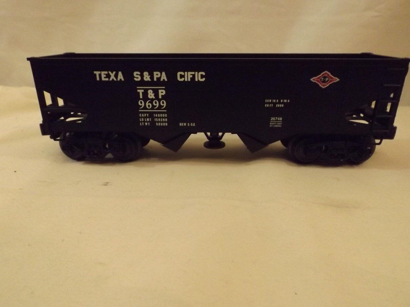 O Lionel Texas & Pacific hopper car in original box