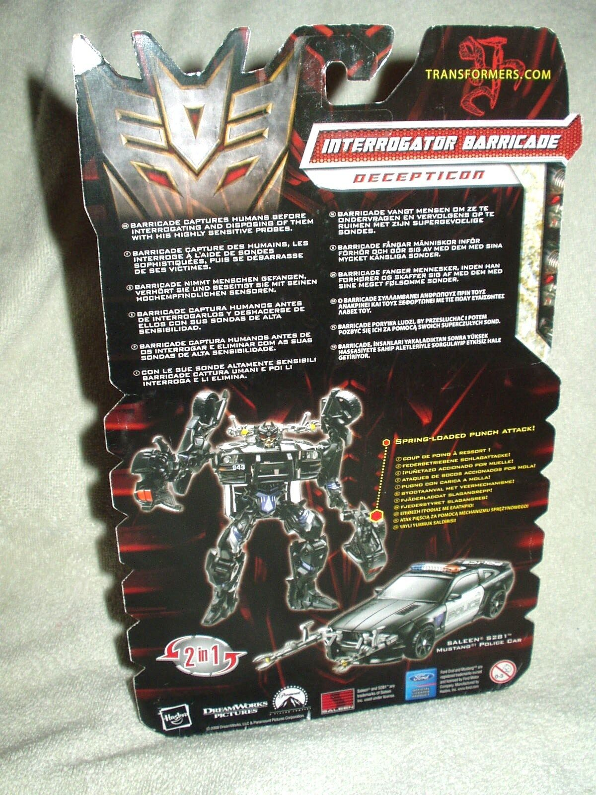 Transformers Action Figure redF Movie Deluxe Deluxe Deluxe Interrogator Barricade 6 inch e47745