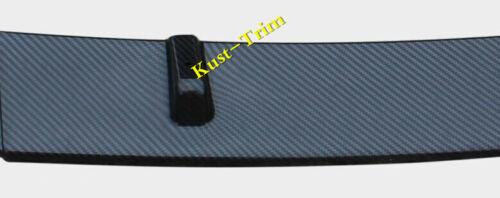 3*FOR Nissan Sentra 2016-2018 Carbon fiber Style Front Bumper Molding Cover Trim