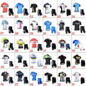Casual-Mens-Road-Bike-Team-Clothing-Cycling-Short-Sleeve-Jersey-Shorts-Outfits