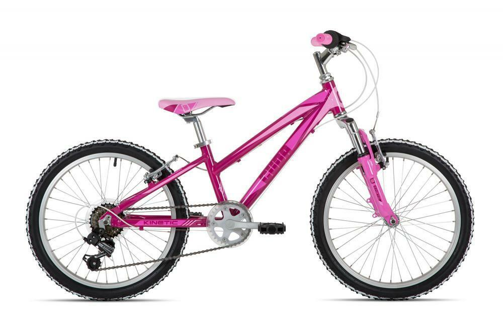 Cuda New Kinetic Girls Kids Alloy Mountain Bike 6-Speed Purple 20  Wheel CUD1916