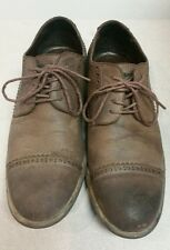 Guess Men's Solid Brown Lace Up Dress Up Shoes Size 8.5