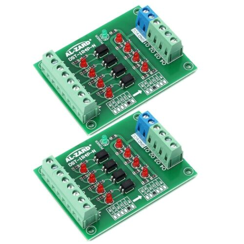 2pcs 4CH 24-5V Optocoupler Voltage Conversion Isolation Board PLC Signal 4 Bit