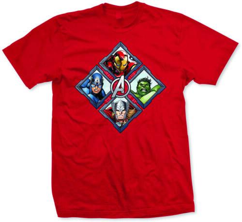 Avengers Diamond Characters Men/'s T-shirt Red XXL