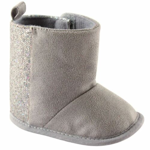 Luvable Friends Girl Winter Boots with Glitter Grey