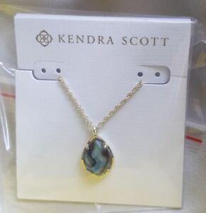 dfaab49081963f Image is loading Kendra-Scott-Kiri-Teardrop-Necklace-In-Abalone-Shell-