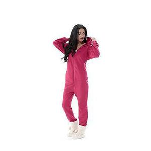 b99771fc2b Ladies Mens Winter Essential Hood Zip Up Soft Fleece Onesie All In ...