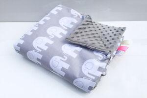 Sonstige H&d Baby Decke 75 X 50 Minky Plüsch Elefant Grau Kuscheldecke Krabbeldecke Schrumpffrei Kinderwagenzubehör