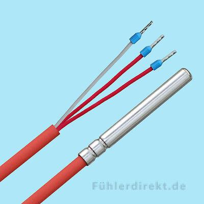 Pt100 2 M de silicona hasta 200 ° C de temperatura sonda anlegefühler rohranlegefühler