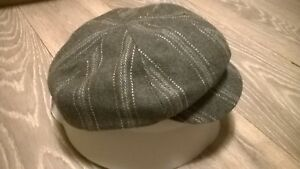 Ladies smart flat cap hat Peaky Blinders Tweed country Herringbone Grey NEW