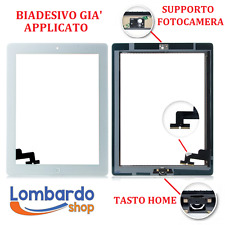 TOUCH SCREEN PER APPLE IPAD 2 A1395 A1396 BIANCO WHITE SCHERMO VETRO WIFI 3G